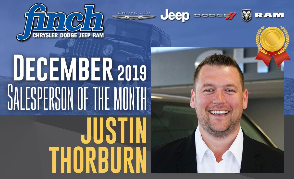Salesperson Of The Month for December 2019 - Justin Thorburn