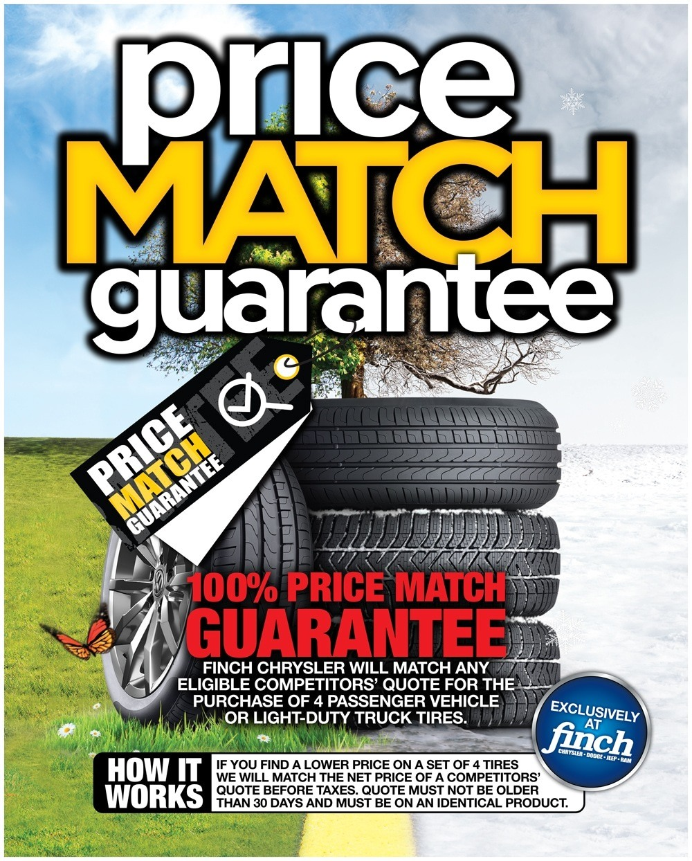Price match guarantee service specials